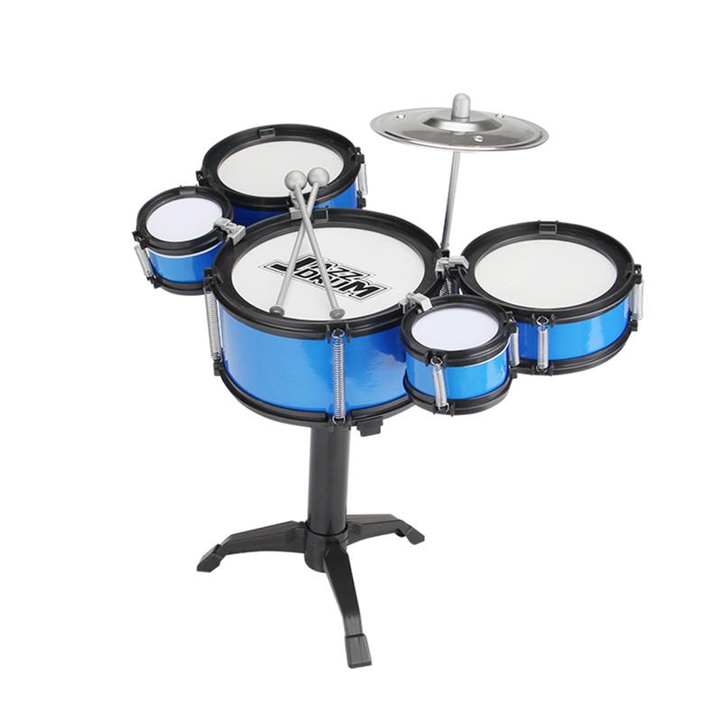 Childrens Jazz Drums Boys Early Education Educational Toys Exercise Coordination Hands-on Ability Musical Instrument Drum SetsChildrens Jazz Drums Boys Early Education Educational Toys Exercise Coordination Hands-on Ability Musical Instrument Drum Sets