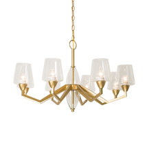 Nordic Retro Led Crystal Glass Pendant Lamp Bedroom Living Room Lighting Decorative Lights Kitchen Fixtures Hanging