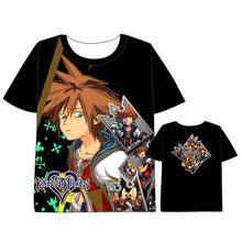 Hot Anime kingdom heartsr T-shirt Men Women Short Sleeve Summe  dress Kingdom Hearts Cosplay Costumes Tops Unisex t shirt