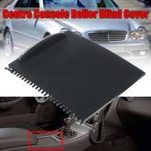 Cubierta enrollable para consola central de coche, accesorio de automóvil deslizante como una persiana para Mercedes Benz Clase C, W203, con soporte para vaso de agua, nueva 2000-2007