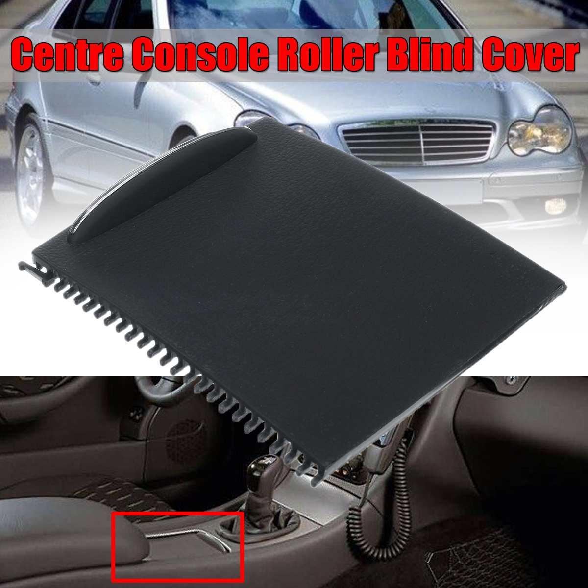 Nieuwe Auto Innerlijke Centre Console Dia Roller Blind Cover Voor Mercedes Benz C-Klasse W203 2000-2007 auto Water Bekerhouder Opslag