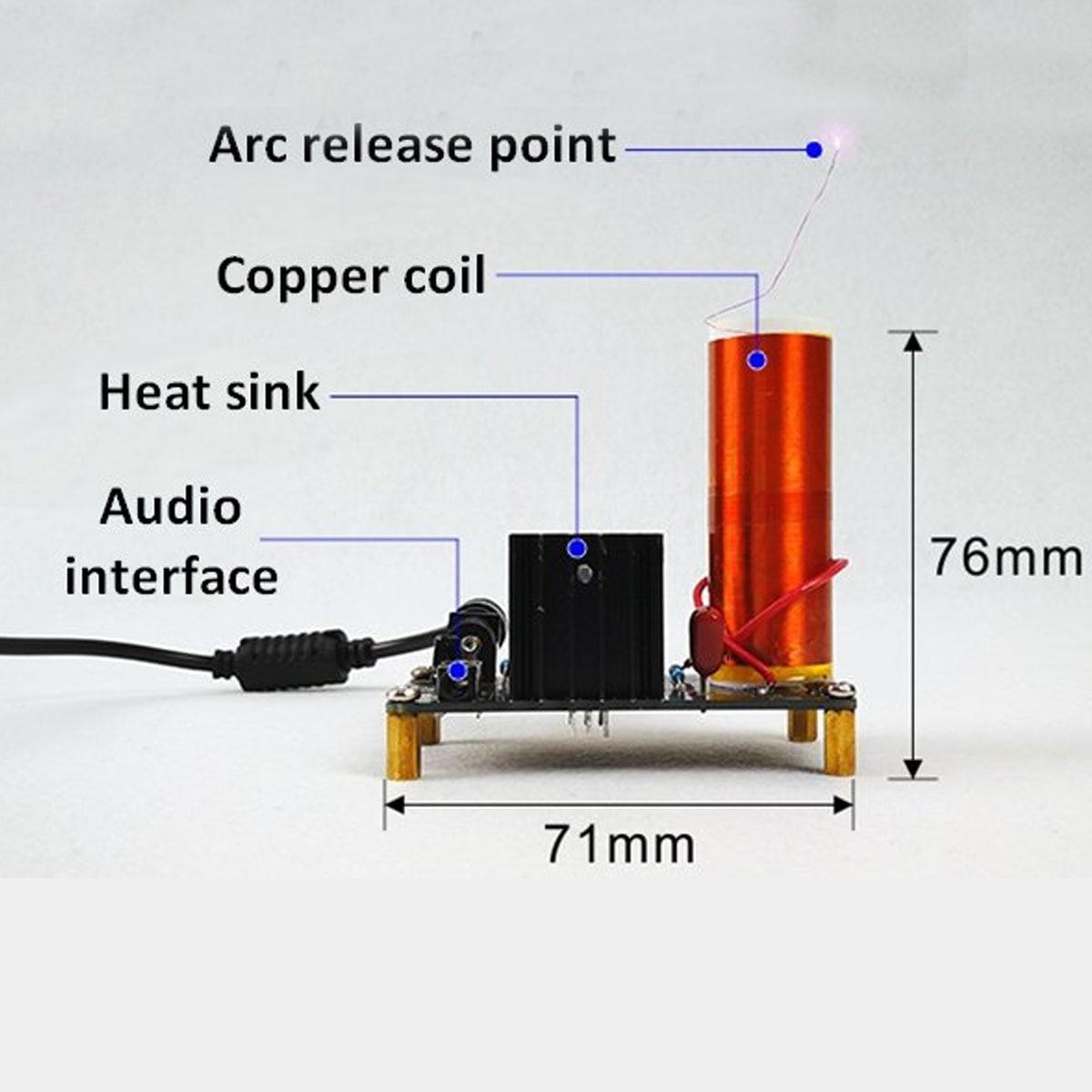 medium resolution of claite leory mini dc 15 24v music for tesla coil diy kits assembled plasma horn speaker science electronic wireless transmission