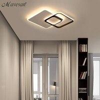 Современные светодиодные потолочные светильники с дистанционное управление Квадратные лампы для гостиная заподлицо освещение в помещени
