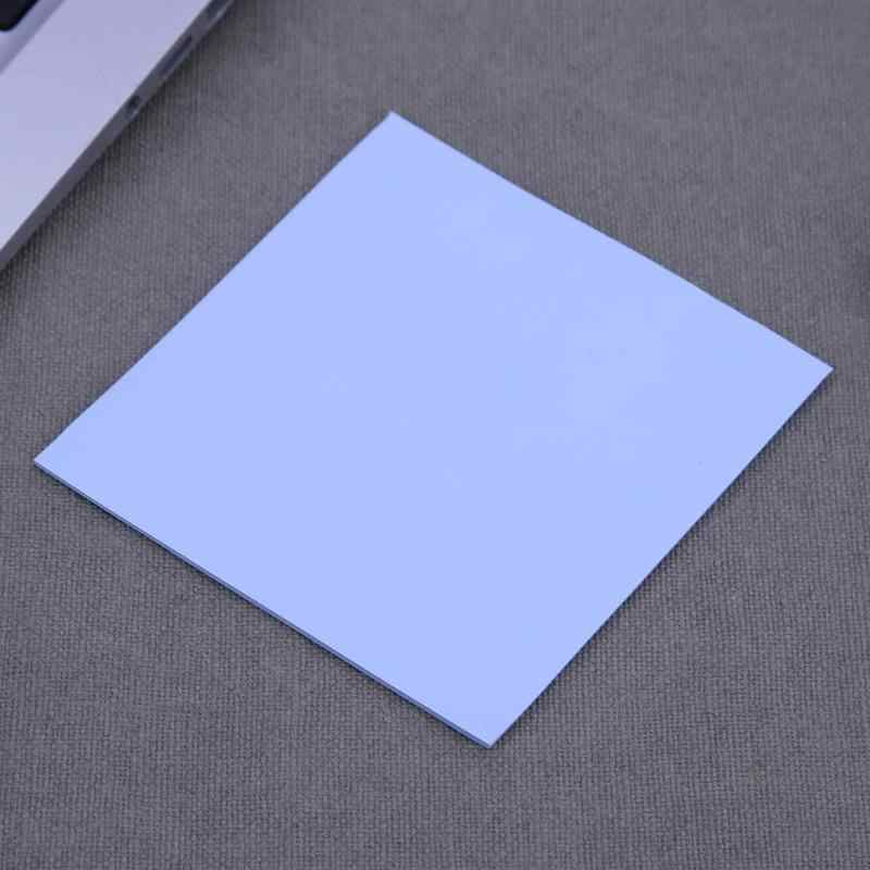 100x100mm 0.5mm التبريد سيليكون لوحة حرارية ورقة الكمبيوتر وحدة المعالجة المركزية بطاقة جرافيكس رقاقة الحرارة بالوعة المبرد سمك المبرد الكمبيوتر المحمول