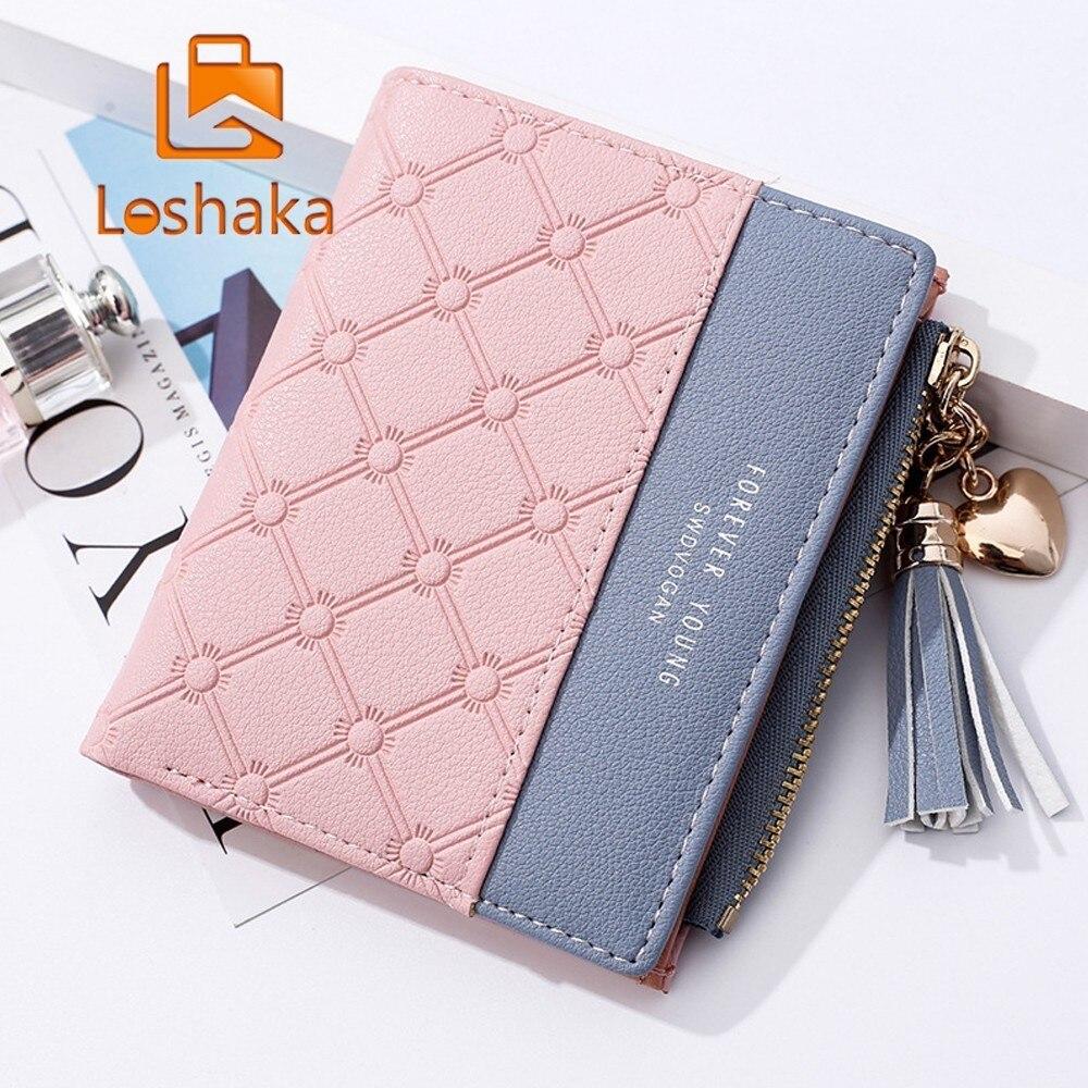Loshaka Tassel Women Wallet With Zipper Coin Pocket Card Holder Brand Ladies Purse High Quality Small Wallets Female Cartera HOT wallet