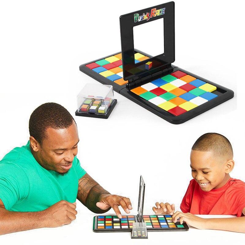 Color batalla Rubik carrera de cubo de juego interacción padre-hijo cubo escritorio juguetes educativos rompecabezas