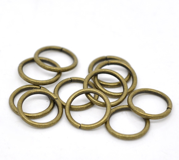 Lovely 300 Bronze Tone Open Jump Rings 10x1.2mm (B13500)