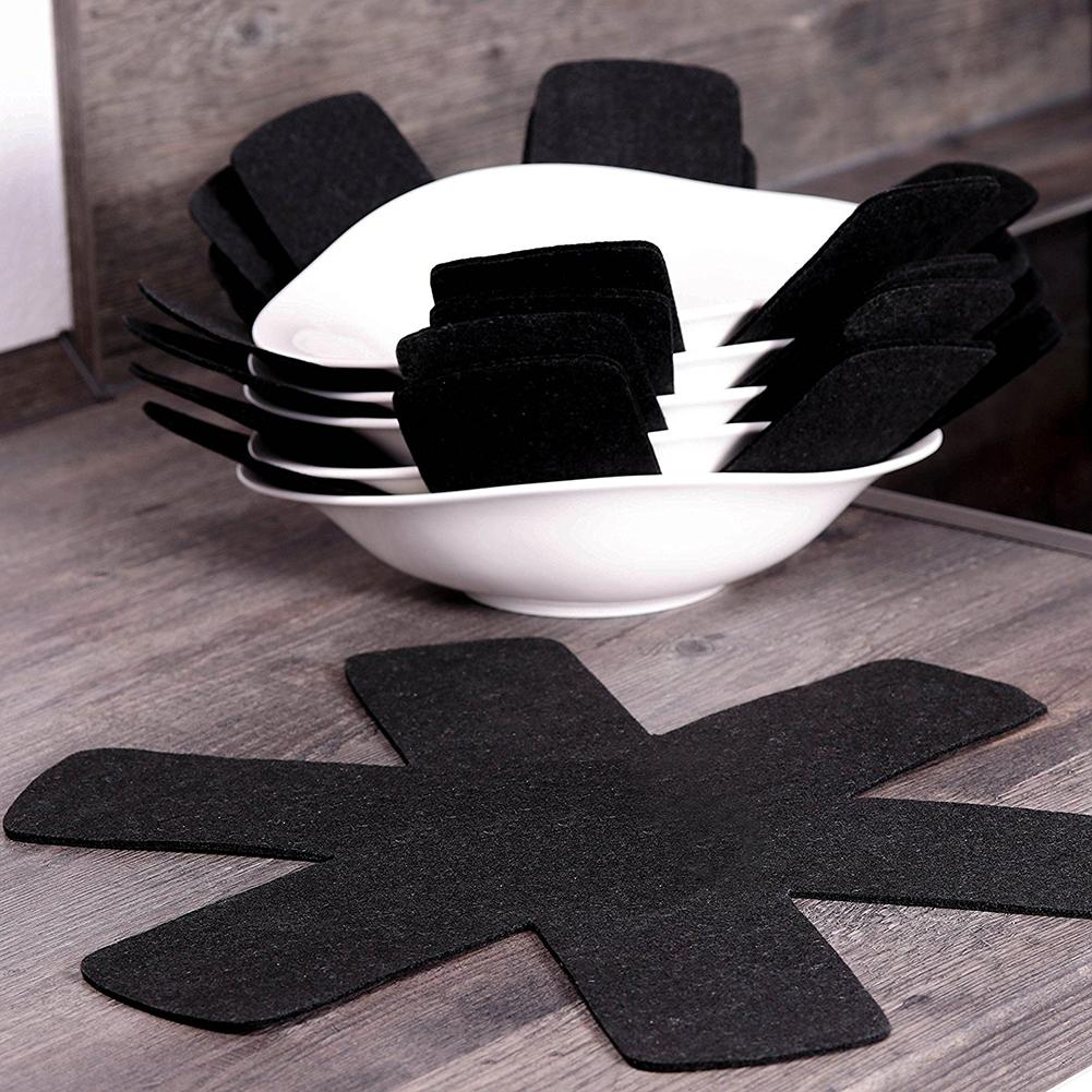 3/6/8Pcs Non-woven Fabrics Pots Pans Separator Scratchproof Protectors For Table And Placemat Kitchen Tools