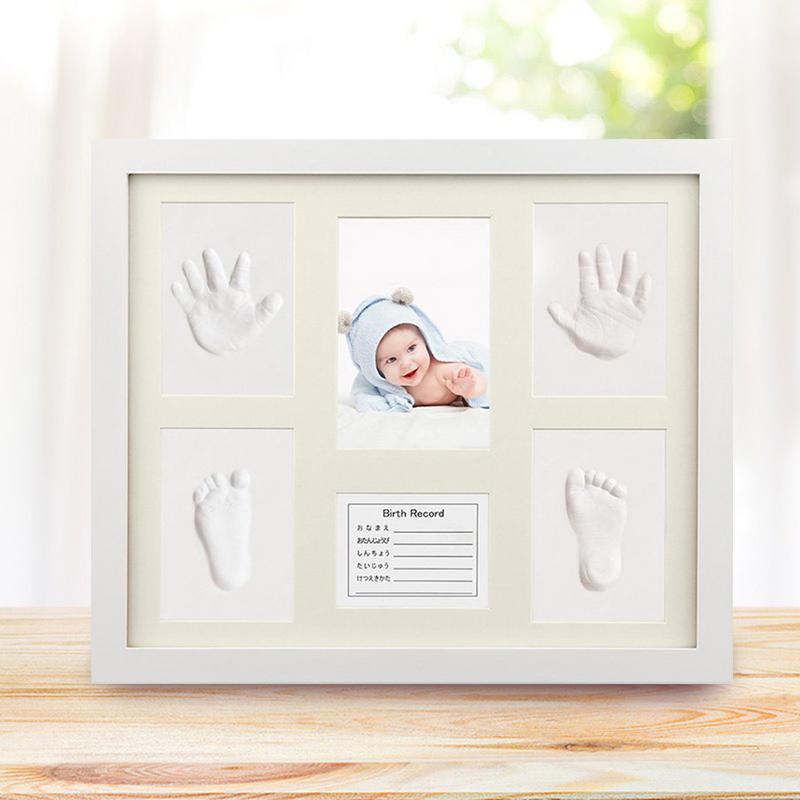 Baby Hand Foot Print Clay Cast Kit Photo Frame Commemorative Environmentally Friendly Picture Frame