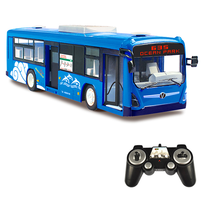DOUBLEE E635-003 télécommande Bus haute Simulation conception Rechargeable Simulation carte de Route Cool chat lumières RC Bus
