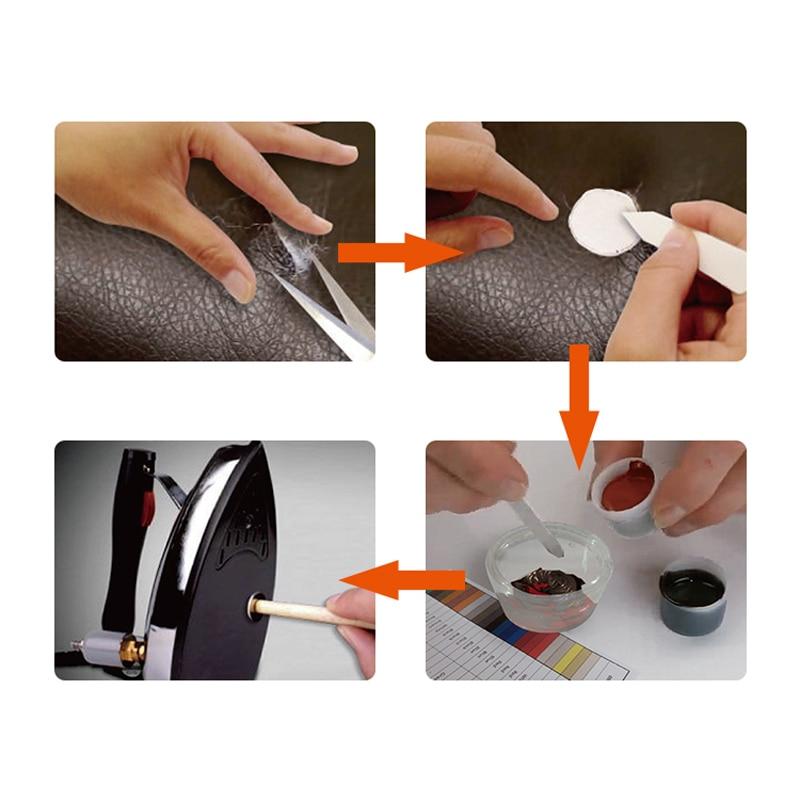VISBELLA Leather repair glue kit vinyl color paste for car seat fur clothing leather boots Rips fix crack cuts restoration tools