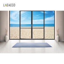 Laeacco Indoor Seaside Vase Floor To Ceiling Windows Photography Backgrounds Photocall Photographic Backdrops For Photo Studio