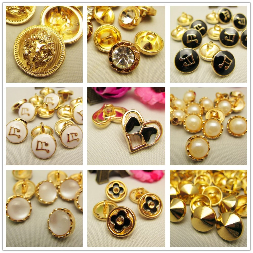 10 pcs,<font><b>10mm</b></font> gold metal <font><b>button</b></font> in Gold color,World famous classic brand <font><b>buttons</b></font>,garment accessories DIYmaterials Point oil <font><b>button</b></font> image