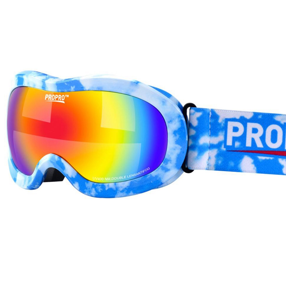 Lgfm-propro New Kids Childrens Ski Skiing Glasses Double Layers Shockproof Lens Colorful Coating Warm Breathable Anti-fog Gog Good For Antipyretic And Throat Soother Sports & Entertainment Skiing & Snowboarding