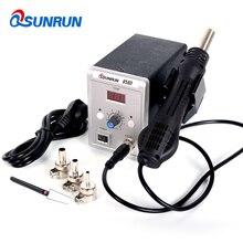Qsunrun Station de soudage à Air chaud 858D 700W, pistolet à Air chaud 858D ESD, Station de soudage numérique LED, mise à niveau