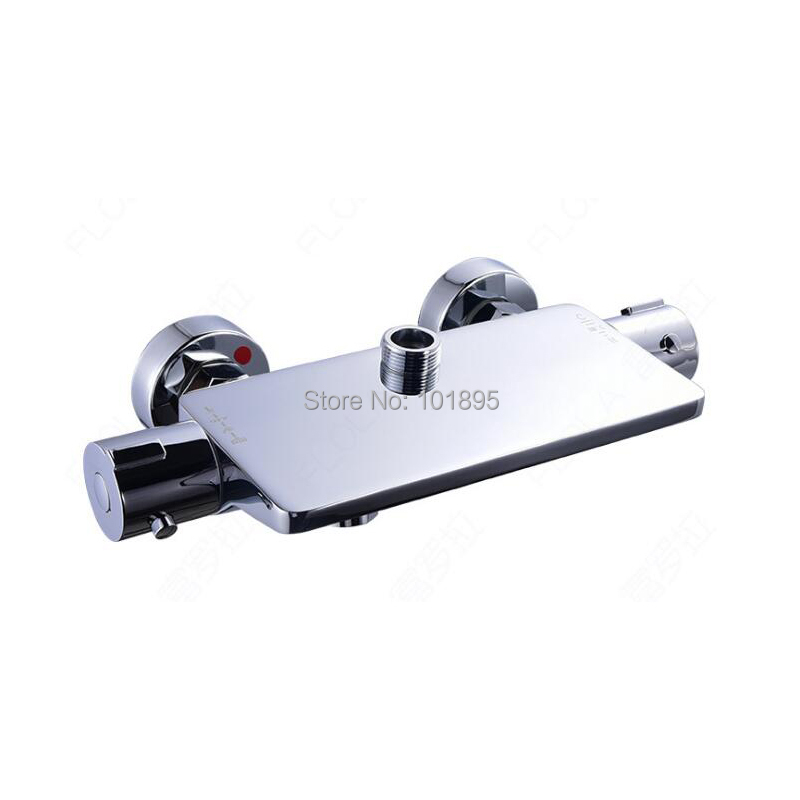 Chrome Plated Brass Material Thermostatic Bathtub Faucet