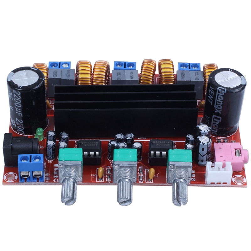 <font><b>Amplifier</b></font> <font><b>Board</b></font> <font><b>TPA3116D2</b></font> <font><b>50Wx2</b></font>+<font><b>100W</b></font> <font><b>2.1</b></font> Channel Digital Subwoofer Power 12~24V image