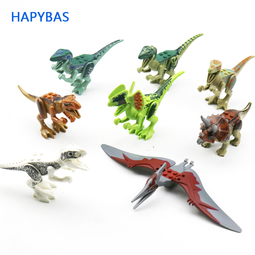 1 Piece Dinosaur Toy Plastic Play Toys Small Tyrannosaurus / Blocks Model Figures Action Figures Best Gift 12 Styles Random Send