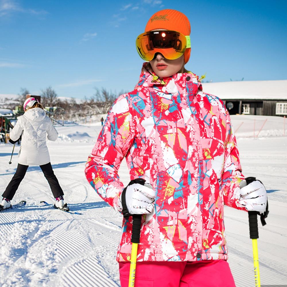Sport & Unterhaltung Winter Ski Anzug Frauen Mit Kapuze Winddicht Ski Jacke Schnee Warme Wasserdichte Winddicht Skifahren Snowboarden Anzüge Outdoor Jacke Mantel Um Zu Helfen Skijacke Fettiges Essen Zu Verdauen