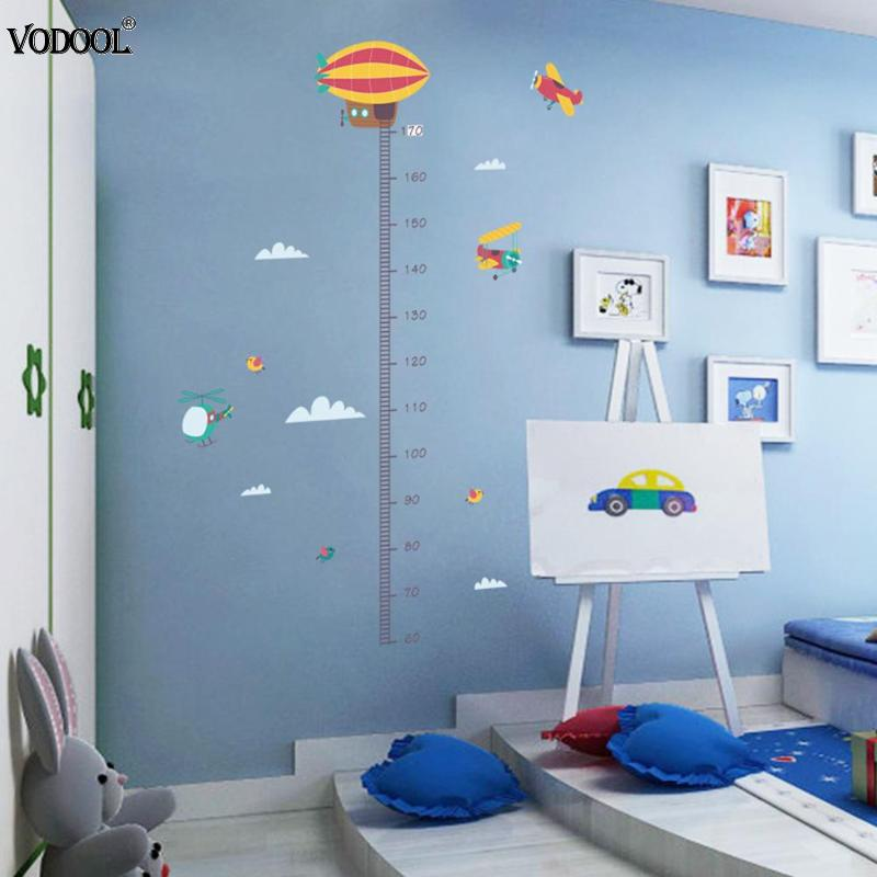 10 Types Cartoon Measure Height Ruler Gauge Stickers Wall Stickers Kindergarten Kids Children Height Ruler Meter Measuring Tool