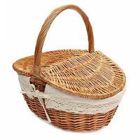 Wicker Basket Making English Country Style Camping Picnic Basket Shopping Storage Basket