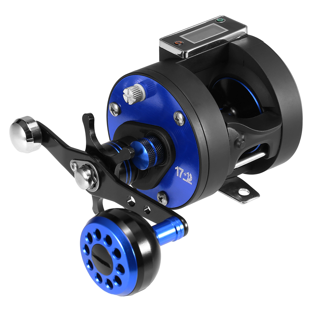 Line Counter Fishing Reel 17 1BB 5 6 1 Trolling Reel Left Right One way Clutch