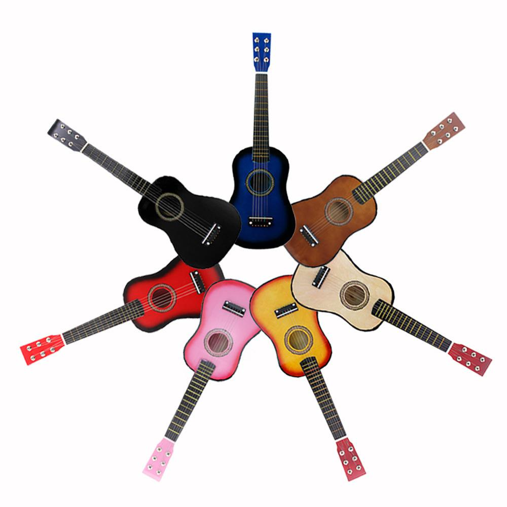 21 Inch Practice Guitar 12 Fret Guitar 6 String Basswood Guitarra for Beginner Children Kids Gifts With Pick+Strings 7 Colors(China)