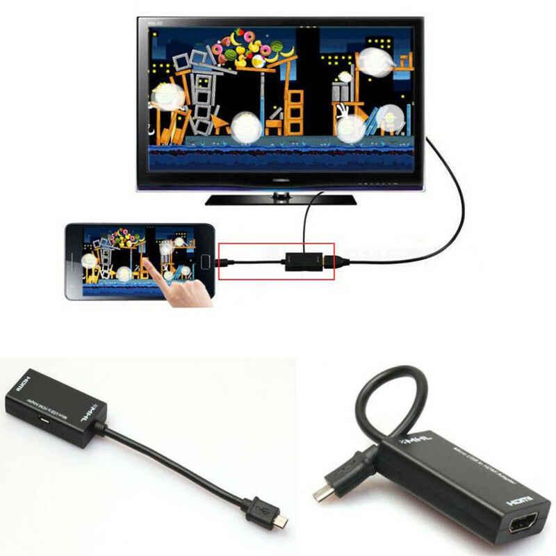 Hot 2019 Mini Micro USB 2.0 MHL untuk HDMI Kabel HD 1080P untuk Samsung Galaxy S2 untuk Android