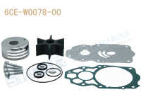 SHCTR Water Pump & Impeller Kit for OEM 6CE W0078 00,225/250/300HP