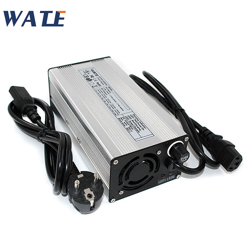 54 6V 7A Charger 13S 48V E-Bike Li-ion Battery Smart Charger Lipo LiMn2O4 LiCoO2 battery Charger With Fan Aluminum Case