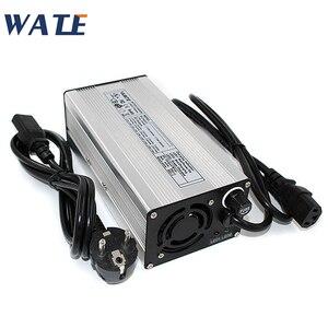 Image 1 - 54.6V 7A Charger 13S 48V E Bike Li ion Battery Smart Charger Lipo/LiMn2O4/LiCoO2 battery Charger With Fan Aluminum Case