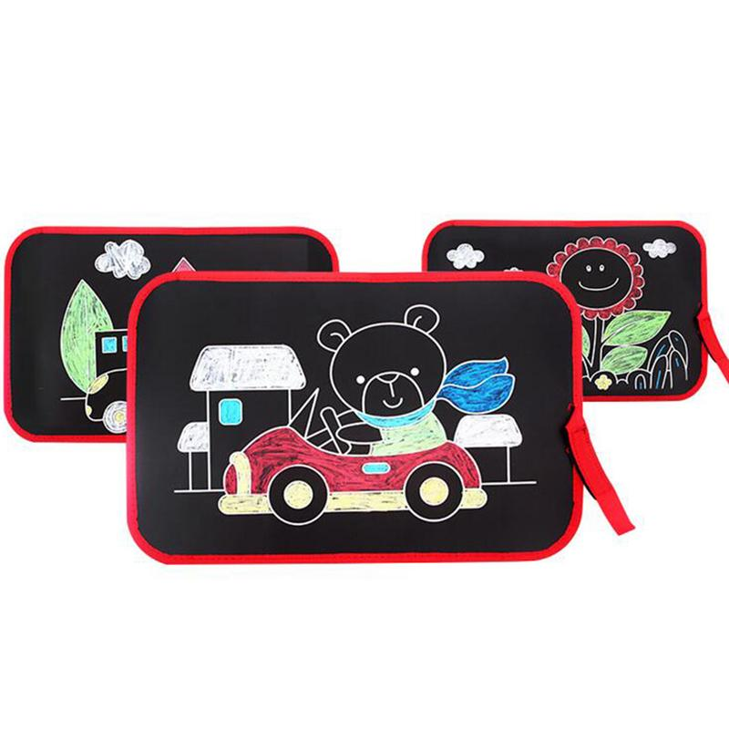 Childrens Multifunctional Portable Blackboard Outdoor Sketching Teaching Aids Kindergarten Learning Utensils Drawing Board ToysChildrens Multifunctional Portable Blackboard Outdoor Sketching Teaching Aids Kindergarten Learning Utensils Drawing Board Toys