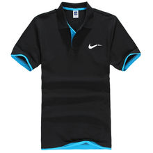 New men's polo shirts high-quality cotton short-sleeved shirts breathable solid polo shirts summer casual business men's wear(China)