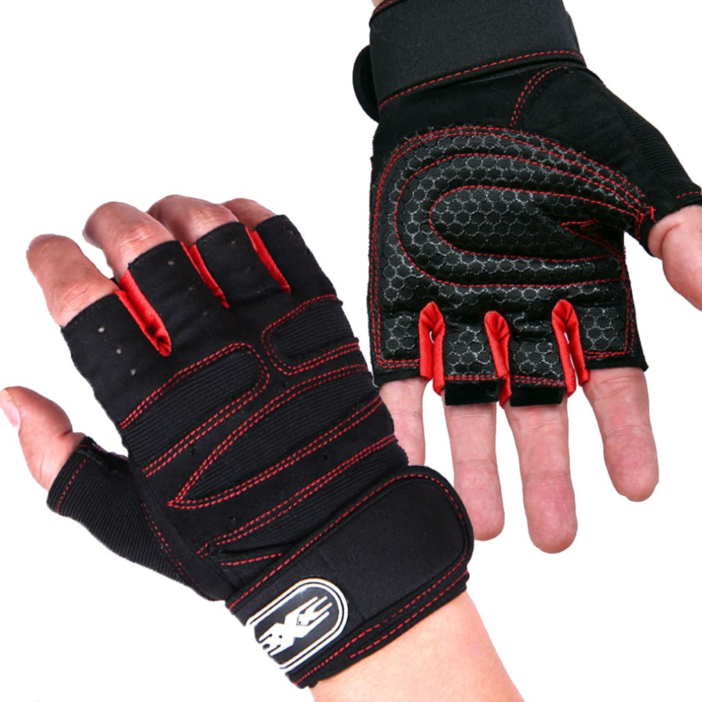 Rdx Ladies Bodybuilding Weight Lifting Gym Gloves: RDX Weight Lifting Bodybuilding Gym Fitness Leather Gloves