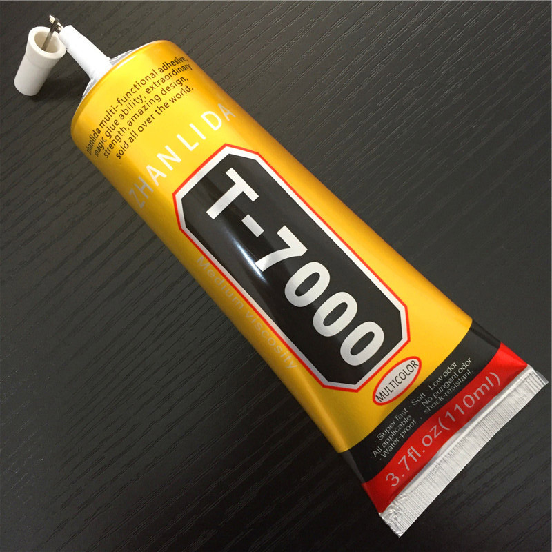 110ml T7000 Glues Multipurpose Epoxy Adhesives Super Glue T-7000 Black Liquid Glues For Diy Crafts Glass Phone Case Metal Fabric