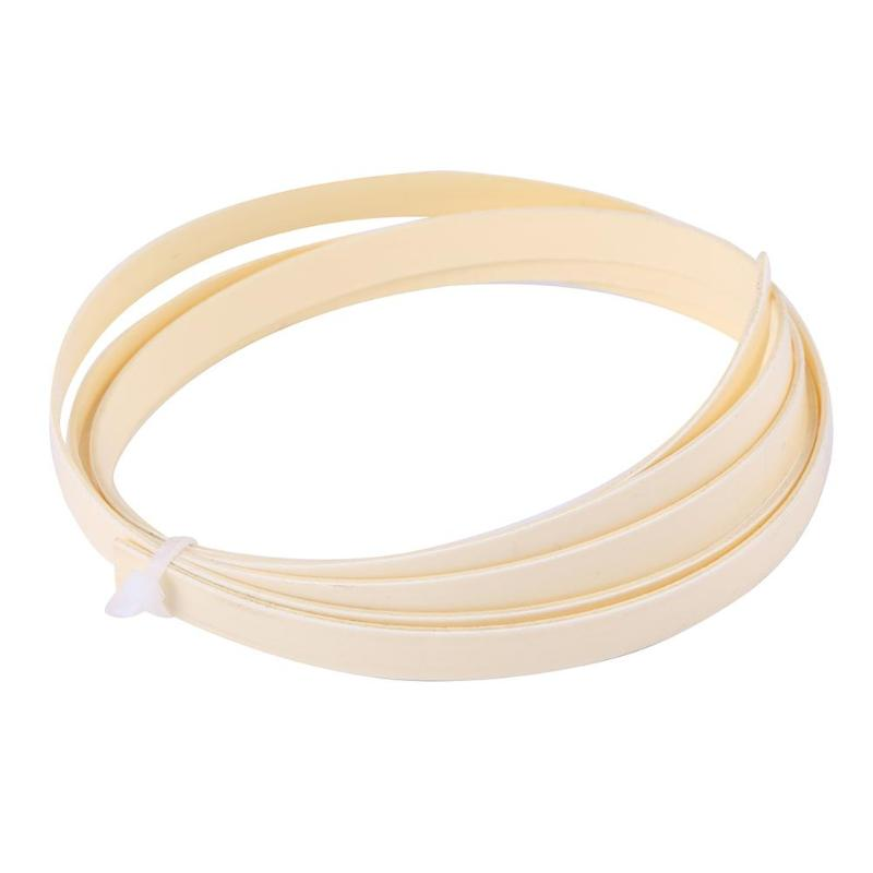 Plastic Guitar Binding Purfling Strips 10mm Guitar Parts Accessories White For Instruments Decoration Tools 2018 New Fashion