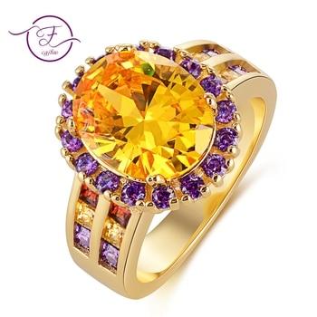 06b949796ffe Nuevo clásico de oro cristal Natural citrino Oval anillos sólido anillo de  piedras preciosas de plata 925 para las mujeres boda fiesta elegante joyería