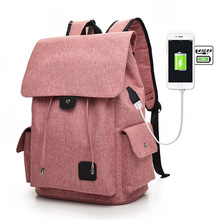 Купить с кэшбэком New Usb Charging Women And Men Outdoor Leisure Canvas Travel Bags for women Fashion To A Student Of Both Shoulders Package Bag