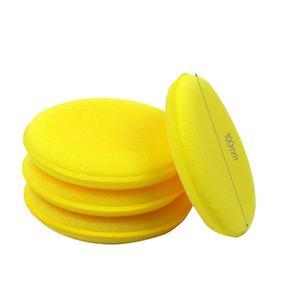 Image 5 - 12 sztuk samochód woskowany lakier gąbka piankowa ręcznie miękki wosk żółta podkładka z gąbki/bufor do detale samochodów opieki narzędzie czyszczące