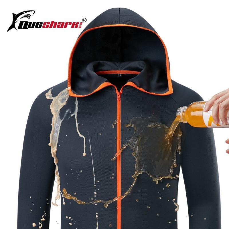 Glace soie hydrofuge pêche hommes vêtements Tech hydrophobe vêtements marque liste kleding Camping en plein air vestes à capuche