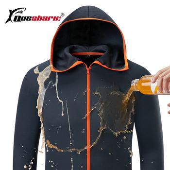 Lodowy jedwab wodoodporny wędkarstwo mężczyźni odzież Tech hydrofobowa marka odzieżowa oferta kleding Outdoor Camping kurtki z kapturem tanie i dobre opinie LL026