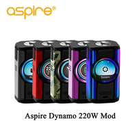 Electronic Cigarette Aspire Dynamo 220W Vape Mod fit 510 thread Support VW VV Bypass CPS TC TCR Modes 2 inch TFT Screen box mod