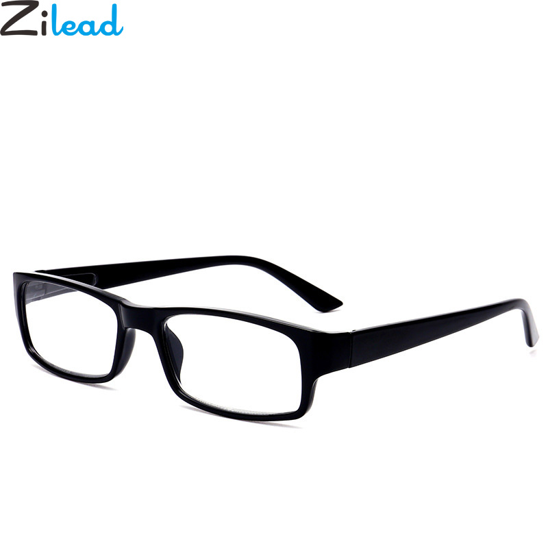 Zilead Classic Black Frame Reading Glasses Women&Men Spring Leg Presbyopic Glasses +1.0+1.25+1.5+1.75+2.0to+4.0 Unisex