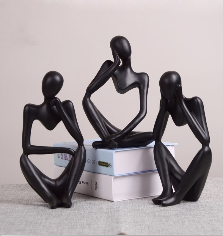 Creative Resin Abstract Figures Home Decorative Artwork Modern Minimalist Living Room Desktop Accessories