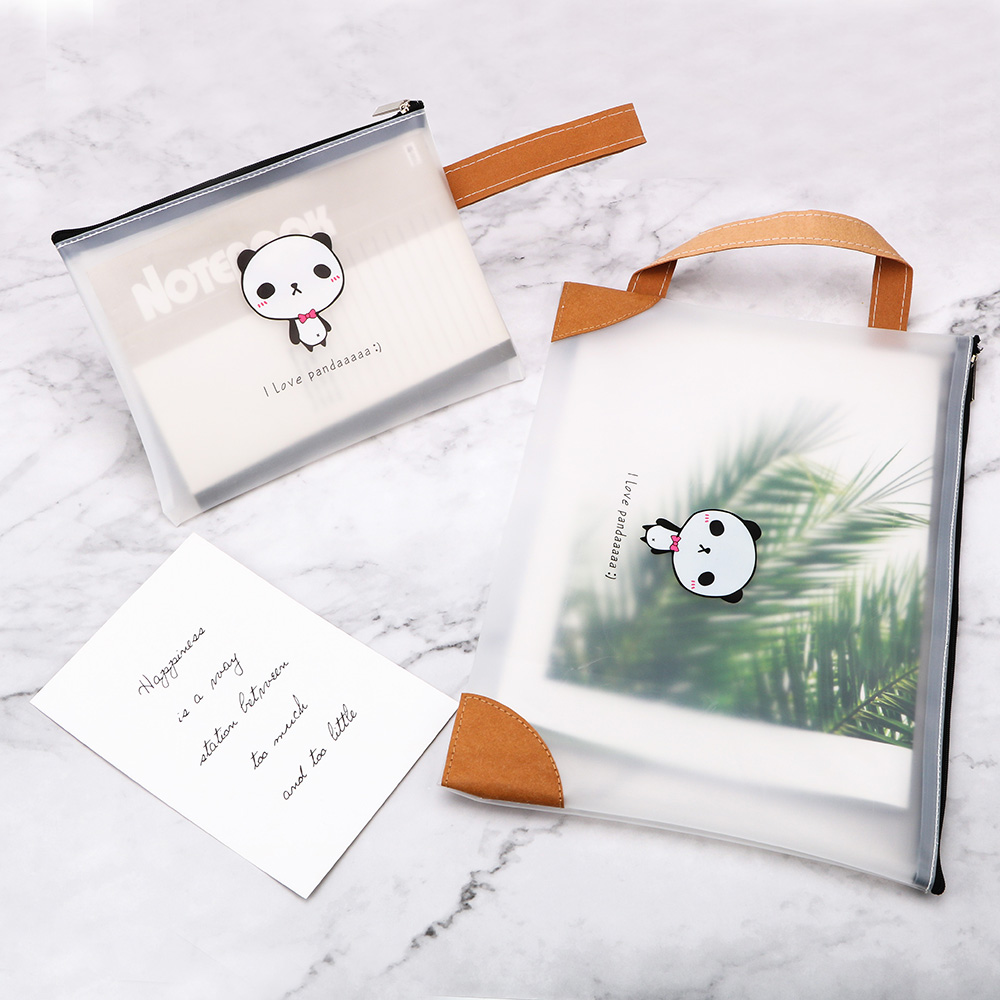 Transparent zipper file bag Zipper Bag Pouch  Pen Case Bag Home Office Storage Stationery Storage Student Documents Pouch