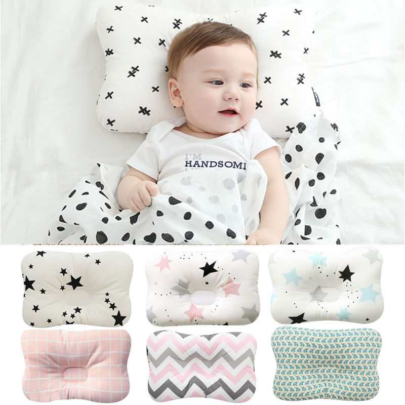 Newborn Baby Infant Pillow Memory Foam Positioner Prevent Flat Head Anti Roll