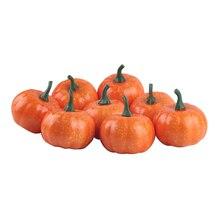 16 Pcs Halloween Artificial Fake Mini Pumpkin for Autumn Thanksgiving Garden Home Harvest Decoration