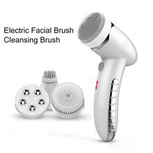 4 In 1 Electric Facial Cleansing brush Instrument USB Rechargeable Gentle Exfoliating Deep Removing Blackhead Dirt Fac