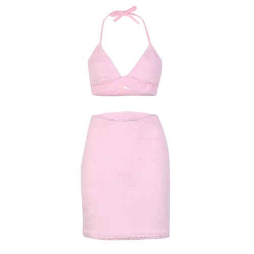 889ae5cbd419a 2018 Hot UK 2pcs Women Backless Crop Top Bodycon Skirt Co ord Set Clubwear  High Street Summer D ress