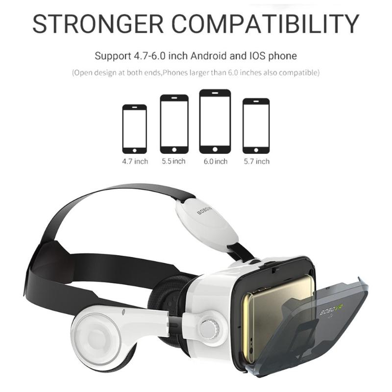 3D Carton Réalité Virtuelle VR Lunettes Casque Boîte pour 4.7-6.0 Pouces Téléphone Portable Home cinéma lunettes Tête- monté VR lunettes